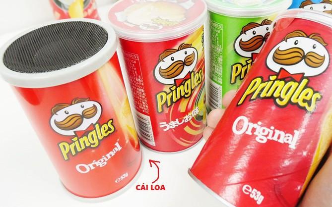 Trên tay loa bluetooth trong hộp khoai tây Pringles: Chỉ được cái đáng yêu, chớ mong đợi gì nhiều