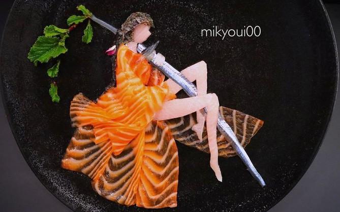 Chỉ xem Youtube, ông bố Nhật đã tạo ra những tác phẩm nghệ thuật đáng kinh ngạc từ cá sống