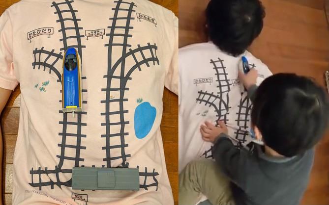 Áo phông kỳ diệu của kỹ sư Google: Hễ con chơi tàu hỏa là bố được mát-xa lưng