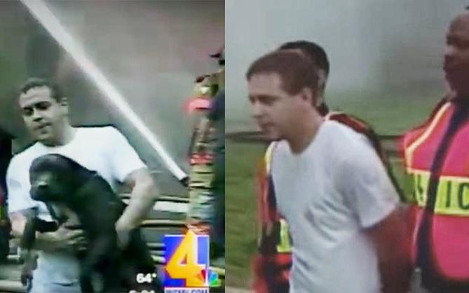 Bị cảnh sát bắt vì dũng cảm lao vào nhà đang cháy để cứu chó cưng