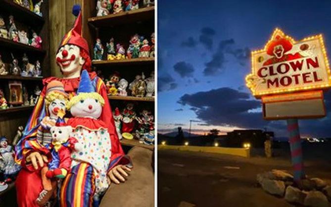 Khách sạn đáng sợ nhất nước Mỹ với hơn 2000 hình nộm hề cười toe toét sẵn sàng dọa bạn ngất xỉu