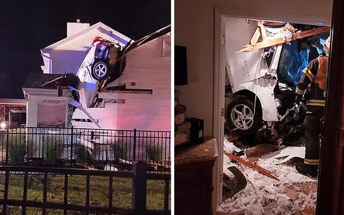 """Hi hữu: Ô tô trên trời rơi xuống thủng mái nhà lúc nửa đêm, tài xế """"xe bay"""" còn xin... ngủ nhờ vì quá sợ"""