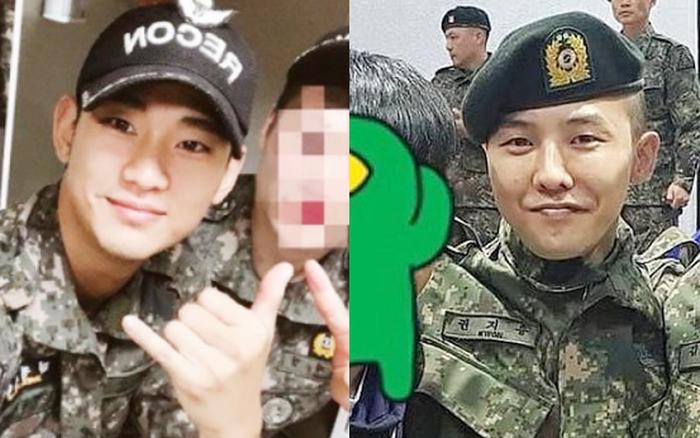 """G-Dragon bị """"réo tên"""" vì Kim Soo Hyun đẹp trai trong quân ngũ"""