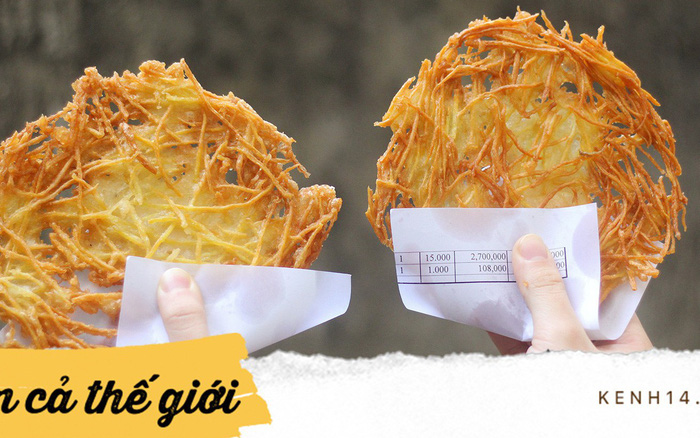 Hàng bánh khoai sợi nhỏ chỉ có 1 ở Hà Nội, đố ai tìm được hành thức 2