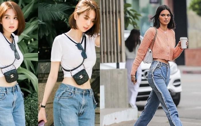 """Khoe quần jeans """"trước sau như một"""", tưởng không ai dám mặc hóa ra Ngọc Trinh ..."""