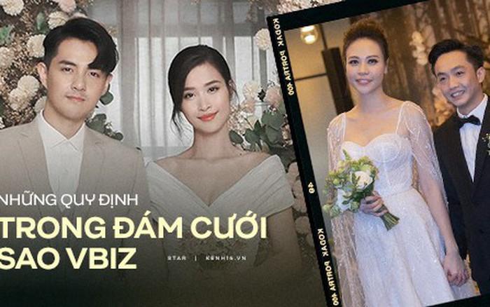 Loạt quy định trong đám cưới sao Vbiz: Đông Nhi gắt gao về khách vào tiệc, Cường ...