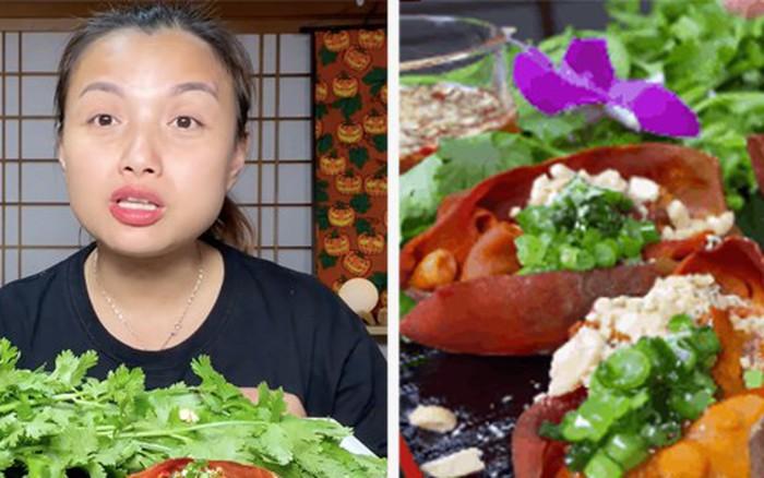 """Hốt hoảng món """"dứa biển"""" trong vlog mới của Quỳnh Trần JP: tưởng thực vật nhưng hoá ra lại ..."""