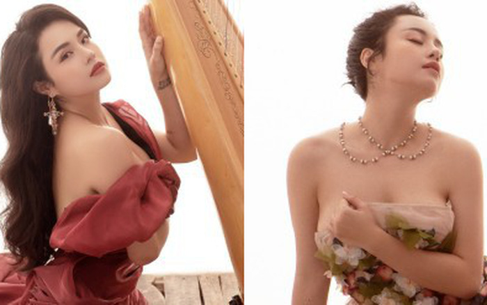 Thái Trinh gợi cảm khoe ngực đầy, lý giải về màn lột xác hậu chia tay Quang Đăng