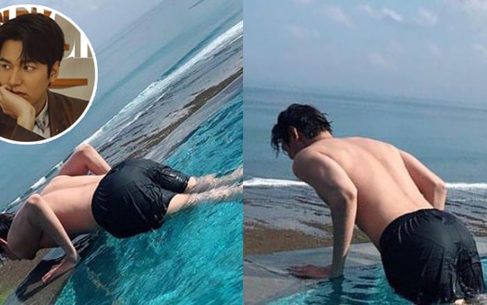 Lee Min Ho khoe ảnh thư giãn ở hồ bơi mà sao như muốn dành trọn spotlight cho vòng 3 ...