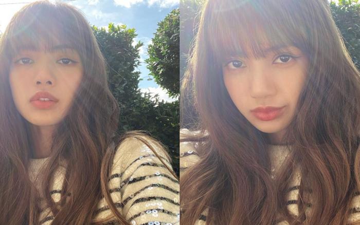 """Cuối tuần """"chill"""" thế này, Lisa (BLACKPINK) selfie sương sương chẳng thèm chỉnh ..."""