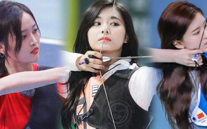 Góc nghiêng dàn mỹ nhân thế hệ mới Cbiz khi bắn cung: Ngô Tuyên Nghi lộ ...