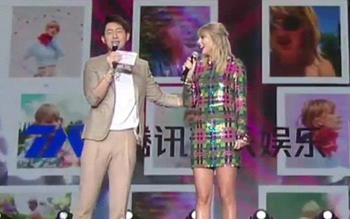 MC xứ Trung bị tố liên tục lợi dụng động chạm cơ thể Taylor Swift, phải đứng ra xin lỗi vì ...