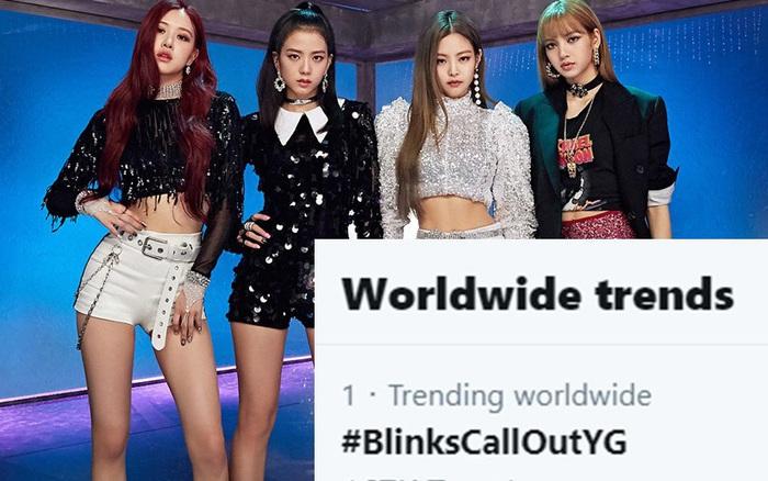"""Fan BLACKPINK lại đưa hashtag thể hiện sự bất mãn với YG lên top trending, ra """"tối hậu ..."""