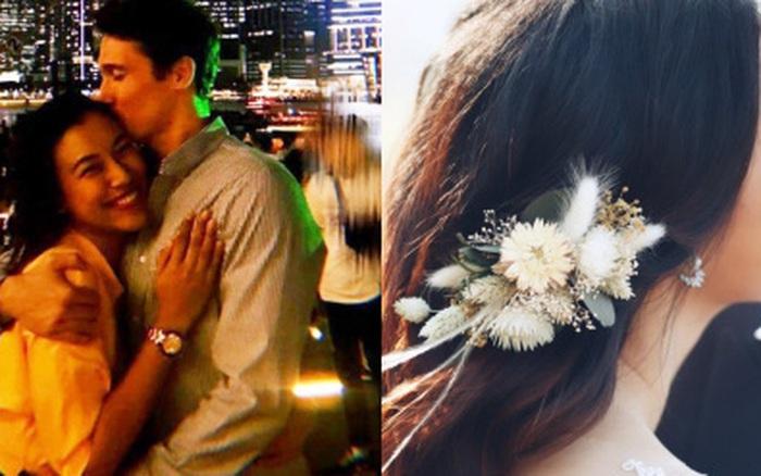 MC Hoàng Oanh cuối cùng cũng nhá hàng ảnh cưới vs bạn trai Tây
