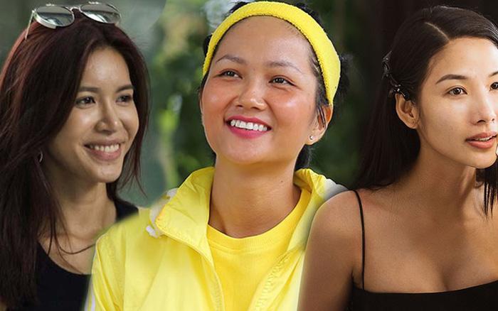 Mặt mộc của các nhan sắc đại diện Việt Nam đi thi quốc tế: Ai ấn tượng nhất trên show?