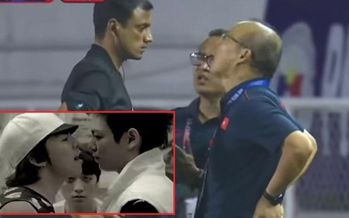 """Thầy Park hoá GD cãi nhau với trọng tài trong vai T.O.P trên nền nhạc """"Haru ..."""