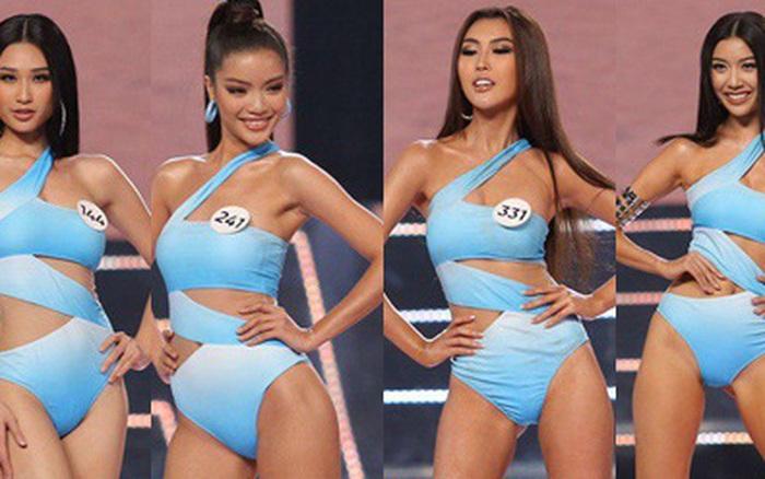 Dàn thí sinh Hoa hậu Hoàn vũ tự tin sải bước catwalk điêu luyện, khoe body cực ...