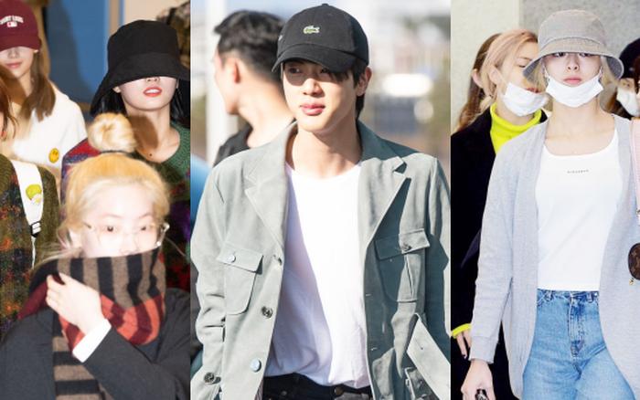 Quân đoàn sao Hàn rũ rượi đổ bộ sân bay hậu MAMA: Jin (BTS) khoe chân dài ...