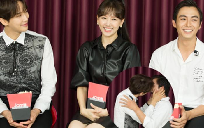 """Hari Won điếng người, đỏ mặt nhìn """"Oppa"""" Park Jung Min khóa môi Lãnh Thanh"""