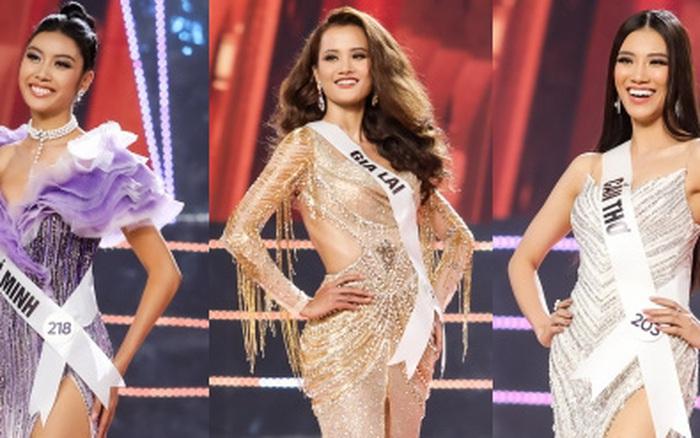 Top 10 thí sinh Hoa hậu Hoàn vũ tự tin sải bước catwalk điêu luyện, rực rỡ trong phần thi ...