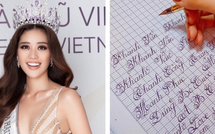 Chữ viết tay đỉnh như đánh máy của dàn Hoa hậu Việt: Phạm Hương cũng phải chào thua ...