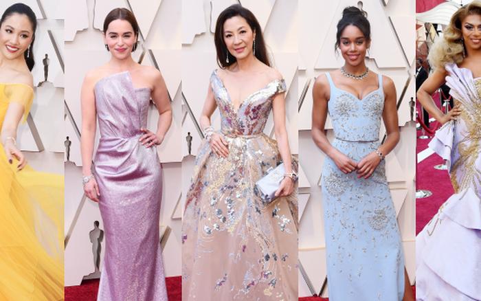 """Thảm đỏ Oscar 2019: Dương Tử Quỳnh diện đầm cổ tích bên dàn """"Con nhà siêu ..."""