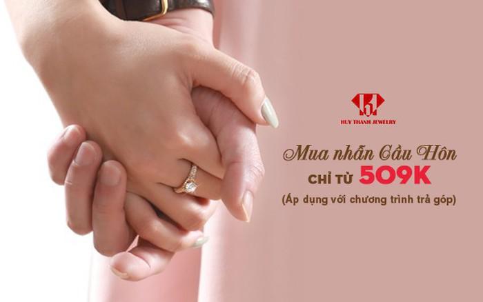 Mua nhẫn cầu hôn trả góp lãi suất 0% chỉ từ 509 nghìn/tháng