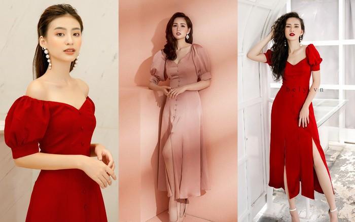 Dàn mỹ nhân Việt đồng loạt đụng hàng mẫu váy siêu hot của thời trang BELY