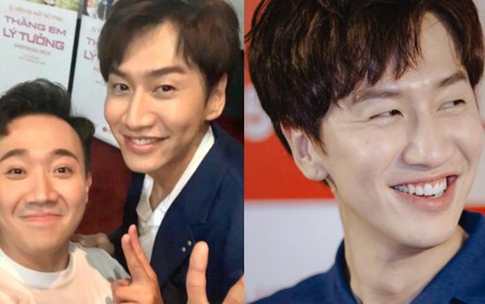 """Trấn Thành khoe ảnh chụp với hươu cao cổ Kwang Soo: Hai """"thánh lầy"""" Running Man cuối ..."""