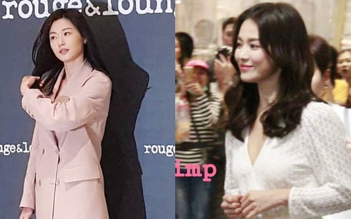 Ảnh chụp vội Jeon Ji Hyun và Song Hye Kyo cùng ngày dự sự kiện: Một người đẹp đến mức lấn ...