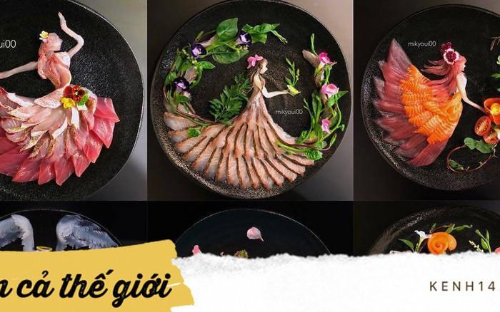Nghệ thuật sashimi Nhật Bản độc đáo đến mức nhìn thoáng qua không ai nghĩ tác ...