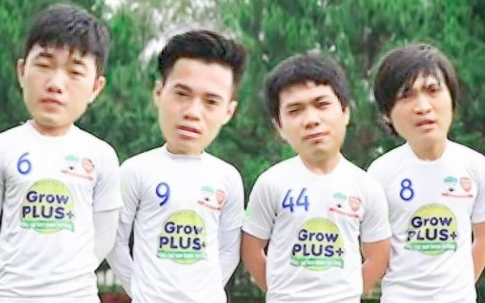"""Hàng loạt tuyển thủ Việt Nam hóa em bé đầu to trong bộ ảnh theo phong cách """"Zin ..."""