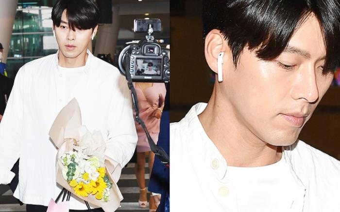 Hyun Bin mặc đồ giản dị ra sân bay mà như tổng tài và chiếc mũi thì sắc như muốn ...