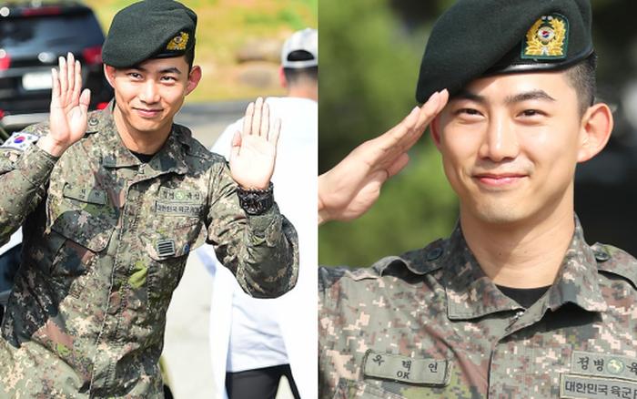 Nam thần quân ngũ Taecyeon (2PM) chính thức xuất ngũ, làn da mộc mịn màng đến mức ...