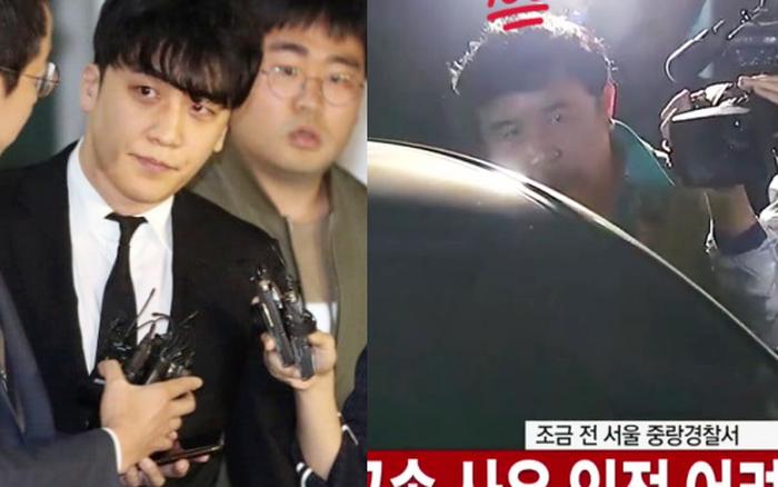 Giữa chảo lửa tranh cãi, hình ảnh bố Seungri chờ sẵn ở xe để đón con trai sau khi tòa ...