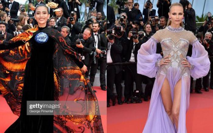 Mỹ nhân Vbiz diện Áo dài chặt chém trên thảm đỏ Cannes ngày 8 nhưng bị nhầm ...