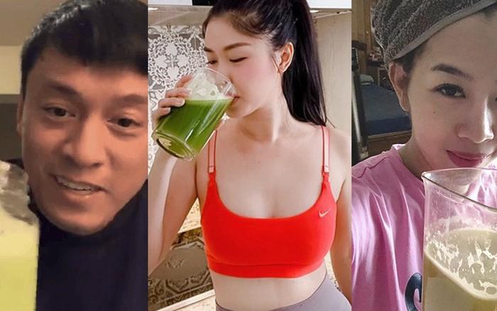Sau Kylie Jenner, loạt sao Việt đã bắt trend uống nước ép cần tây để tốt cho cả nhan sắc ...