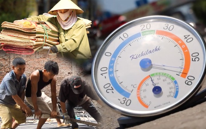 Mưu sinh trên đường Hà Nội vào một ngày nắng nóng: Anh thợ xây gồng ...