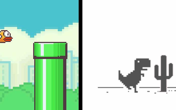 """Kỷ lục chơi Flappy Bird và """"khủng long Chrome"""" không ăn không ngủ, suốt 1 năm ..."""
