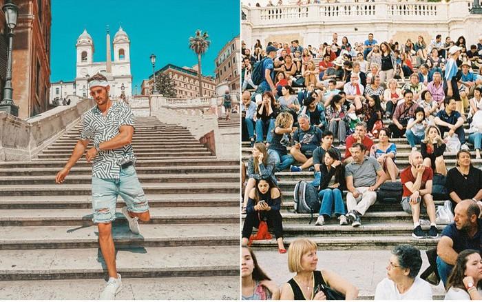 """Kỳ lạ """"bậc thang Tây Ban Nha"""" nhưng lại nằm ở Ý, luôn chật kín người lại có quy ..."""