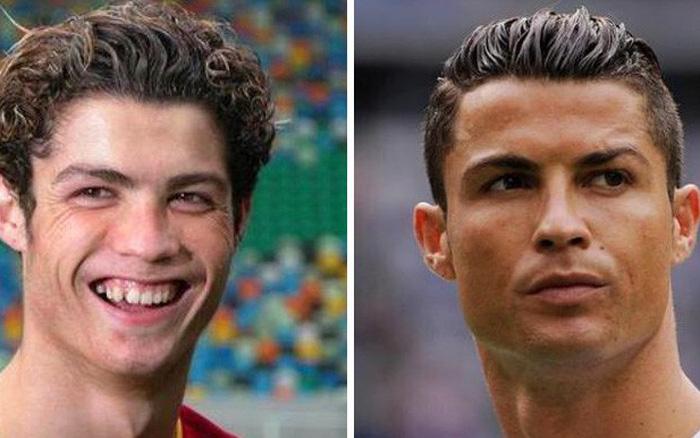 """Cười sái hàm với bức ảnh thời """"trẻ trâu"""" của Ronaldo: Hóa ra, idol của ..."""