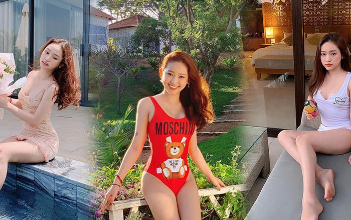 """Du lịch kiểu """"hơi mệt"""" của Thúy Vi: ở trong resort cả ngày, thay chục bộ bikini bên bể ..."""