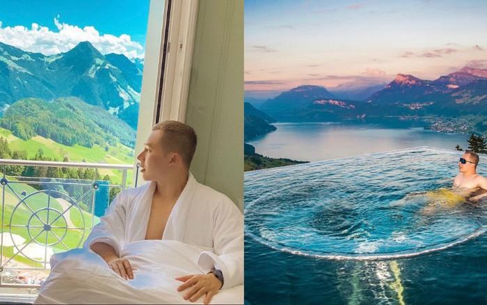 """Tiền nhiều để làm gì: Bay sang Thụy Sĩ quay vlog """"đập hộp"""" khách sạn với view đắt giá ..."""