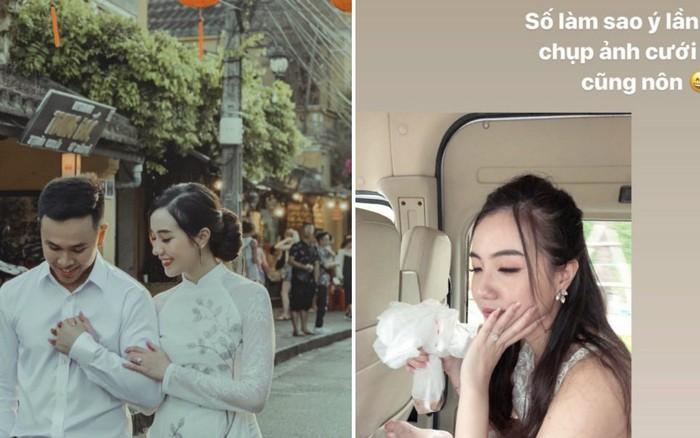 Mie Nguyễn bị nôn sấp mặt ở hậu trường chụp ảnh cưới, vẫn khiến dân tình xỉu lên xỉu ...