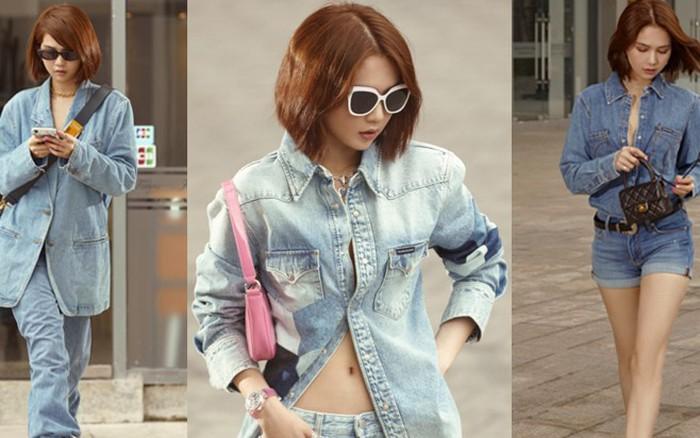 Cứ với tần suất mix đồ khó cảm, Ngọc Trinh rồi sẽ thành kẻ hủy diệt đồ jeans
