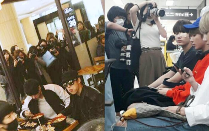 Bị fan chèn bẹp ngoài sân bay chưa là gì, nhìn cảnh tượng idol Kpop phải ...