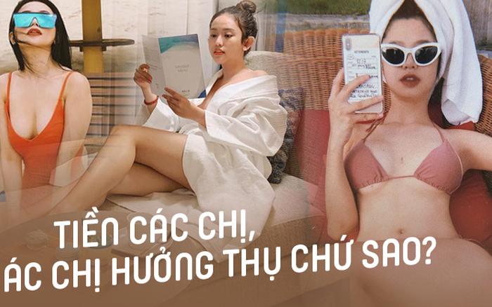"""Thuý Vi - Hàn Hằng - Sĩ Thanh: Bộ 3 """"girl thị phi"""" đam mê du lịch kiểu hưởng thụ, 1 chuyến ..."""