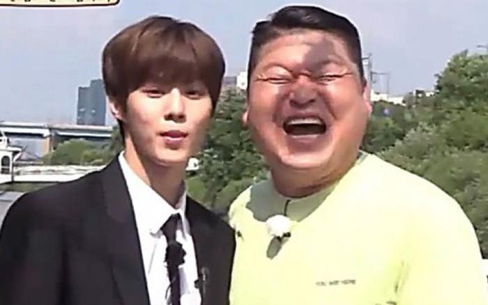 """""""Choáng váng"""" với màn """"so mặt"""" của mỹ nam X1 và MC kỳ cựu Kang Ho ..."""