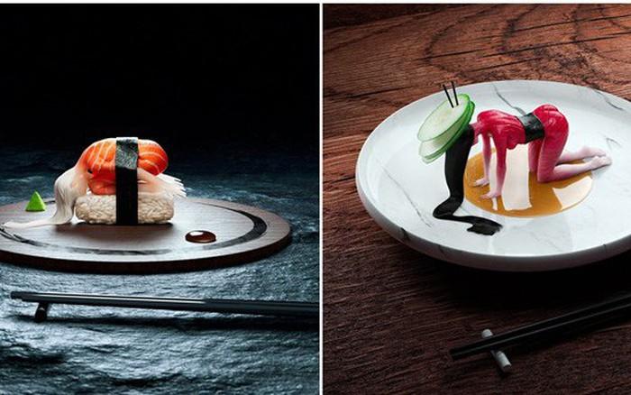 """Đang định ăn sushi thì thấy miếng thịt… uốn éo như tập yoga, nhìn """"chết khiếp"""" nhưng lại ..."""