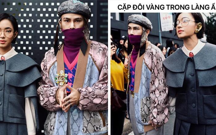 Netizen phát hiện thì ra set đồ của Châu Bùi & Decao ở show Gucci là để ...